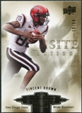 2010 Upper Deck Exquisite Collection Draft Picks #ERVB Vincent Brown /99