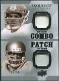 2010 Upper Deck Exquisite Collection Patch Combos #AM Troy Aikman Dan Marino /50