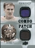 2010 Upper Deck Exquisite Collection Patch Combos #MB Peyton Manning Drew Brees /50
