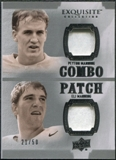 2010 Upper Deck Exquisite Collection Patch Combos #MM Eli Manning Peyton Manning /50