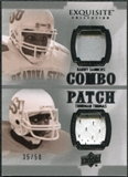 2010 Upper Deck Exquisite Collection Patch Combos #ST Barry Sanders Thurman Thomas /50