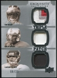 2010 Upper Deck Exquisite Collection Patch Trios #BPR Philip Rivers Tom Brady Carson Palmer 8/25