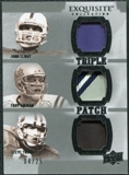 2010 Upper Deck Exquisite Collection Patch Trios #EAY Steve Young John Elway Troy Aikman /25