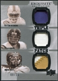 2010 Upper Deck Exquisite Collection Patch Trios #MMB Drew Brees Peyton Manning Eli Manning /25