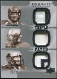 2010 Upper Deck Exquisite Collection Patch Trios #RRR Philip Rivers Tony Romo Aaron Rodgers /25
