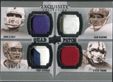 2010 Upper Deck Exquisite Collection Patch Quads #AEYM Troy Aikman Dan Marino John Elway Steve Young /15