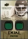 2010 Upper Deck Exquisite Collection Single Player Dual Patch #EDPBB Brian Bosworth /25