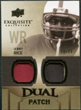 2010 Upper Deck Exquisite Collection Single Player Dual Patch #EDPJR Jerry Rice 9/25