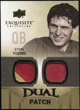 2010 Upper Deck Exquisite Collection Single Player Dual Patch #EDPSY Steve Young /25