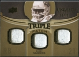 2010 Upper Deck Exquisite Collection Single Player Triple Patch #ETPBS Barry Sanders /75
