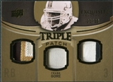 2010 Upper Deck Exquisite Collection Single Player Triple Patch #ETPFG Frank Gore /50