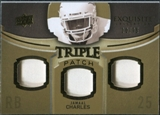 2010 Upper Deck Exquisite Collection Single Player Triple Patch #ETPJC Jamaal Charles /75
