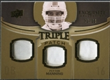 2010 Upper Deck Exquisite Collection Single Player Triple Patch #ETPPM Peyton Manning /50