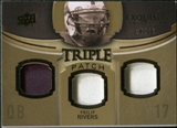 2010 Upper Deck Exquisite Collection Single Player Triple Patch #ETPPR Philip Rivers /50