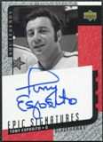 2000/01 Upper Deck Legends Epic Signatures #TE Tony Esposito Autograph