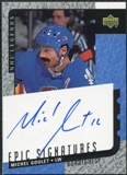2000/01 Upper Deck Legends Epic Signatures #MGO Michel Goulet Autograph