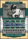 2004 Upper Deck Legends Legendary Signatures #LSCJ Charlie Joiner Autograph
