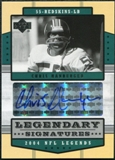 2004 Upper Deck Legends Legendary Signatures #LSHA Chris Hanburger Autograph