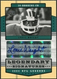 2004 Upper Deck Legends Legendary Signatures #LSLW Louis Wright Autograph
