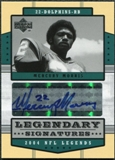 2004 Upper Deck Legends Legendary Signatures #LSMM Mercury Morris Autograph
