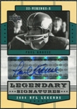 2004 Upper Deck Legends Legendary Signatures #LSPK Paul Krause Autograph