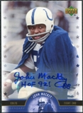 2005 Upper Deck Legends Legendary Signatures #JY John Mackey Autograph
