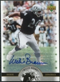 2005 Upper Deck Legends Legendary Signatures #WB Willie Brown Autograph