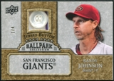 2009 Upper Deck Ballpark Collection Jersey Buttons #RA Randy Johnson 1/4