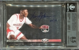 2011 Upper Deck All Time Greats Illustrious Signatures #ISLJ5 Larry Johnson 9/10 BGS 8.5