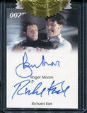 2012 James Bond 50th Anniversary Series 2 Autographs Roger Moore Richard Kiel Dual issued as 6 case incentive