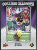2012 Upper Deck College Mascot Manufactured Patch #CM16 PeeDee B