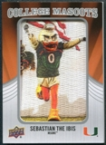 2012 Upper Deck College Mascot Manufactured Patch #CM25 Sebastian the Ibis C
