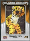 2012 Upper Deck College Mascot Manufactured Patch #CM29 Truman the Tiger A