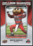 2012 Upper Deck College Mascot Manufactured Patch #CM35 Brutus Buckeye A