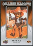 2012 Upper Deck College Mascot Manufactured Patch #CM37 Pistol Pete A