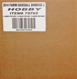 2014 Panini Donruss Series 2 Baseball Hobby 16-Box Case