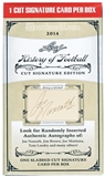 2014 Leaf History of Football Cut Signature Edition Box