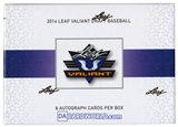 2014 Leaf Valiant Baseball Hobby Box