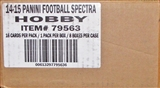 2014 Panini Spectra Football Hobby 8-Box Case