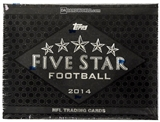 2014 Topps Five Star Football Hobby 4-Box Case- DACW Live at National 32 Spot Random Team Break #1