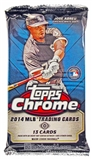 2014 Topps Chrome Baseball Jumbo Pack