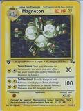 Pokemon Fossil 1st Edition Single Magneton 11/62