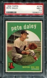 1959 Topps Baseball #276 Pete Daley PSA 7.5 (NM+) *0712