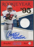 2011 Timeless Treasures Rookie Year Materials Autographs #7 Curtis Martin Autograph 9/10
