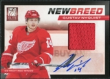 2011/12 Panini Elite New Breed Materials Autographs #11 Gustav Nyquist RC Autograph /50
