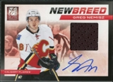 2011/12 Panini Elite New Breed Materials Autographs #22 Greg Nemisz /50