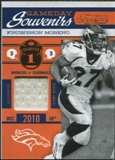 2011 Panini Timeless Treasures Game Day Souvenirs 1st Quarter #19 Knowshon Moreno /150