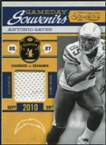 2011 Panini Timeless Treasures Game Day Souvenirs 4th Quarter #24 Antonio Gates /185