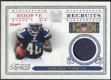 2011 Panini Timeless Treasures Rookie Recruits Materials #15 Jordan Todman /250