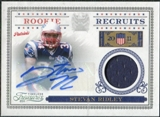 2011 Panini Timeless Treasures Rookie Recruits Materials Autographs #8 Stevan Ridley /50